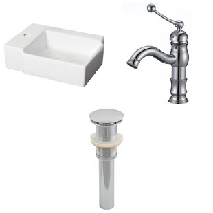 Look for Ceramic 16.25 Bathroom Sink with Faucet ByRoyal Purple Bath Kitchen