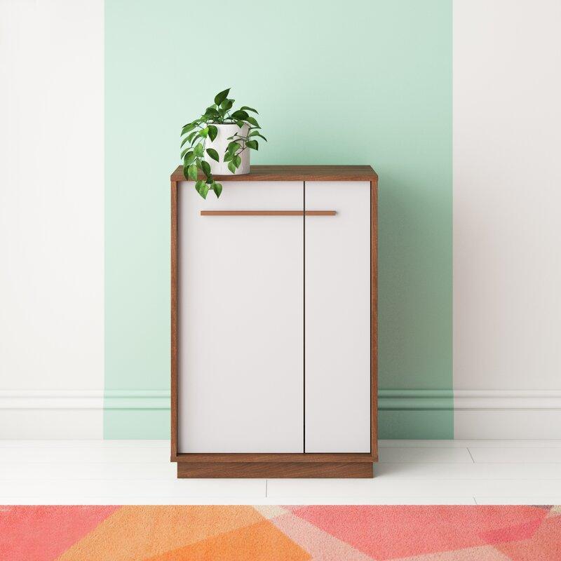 Wrought Studio Johnathon 15 Pair Shoe Storage Cabinet Reviews Wayfair
