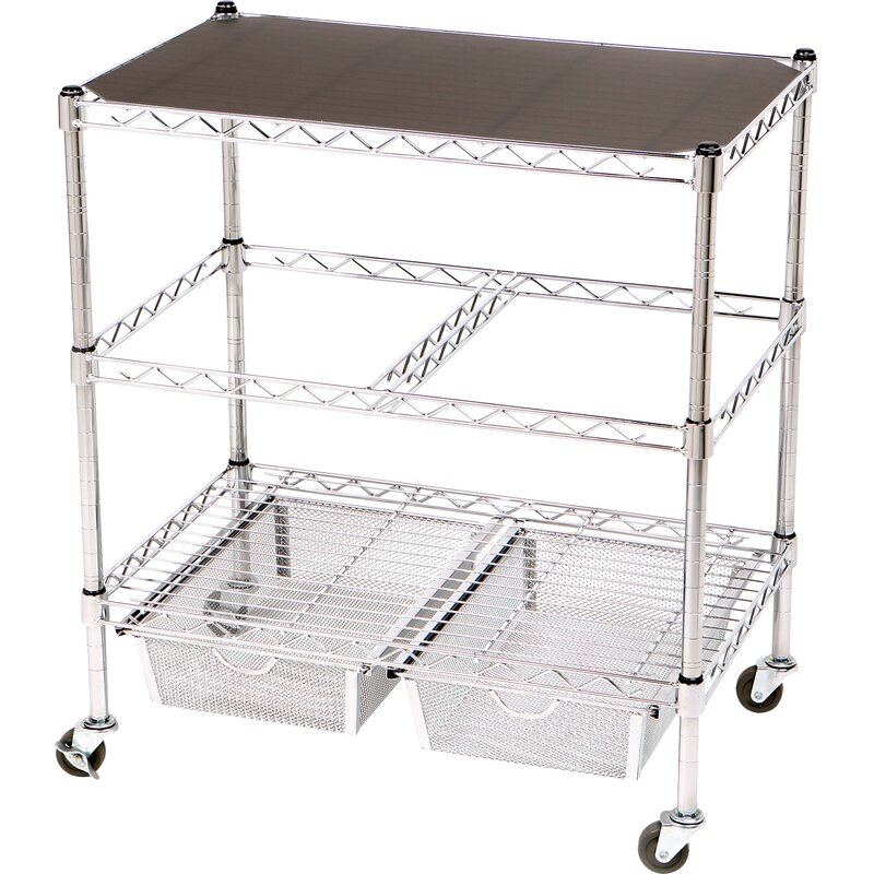 Etonnant 3 Tier Legal Office File U0026 Utility Cart With 2 Baskets