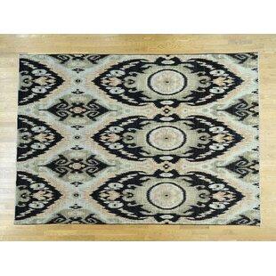 Shop For One-of-a-Kind Christopher Ikat Uzbek Design Handwoven Wool Area Rug By Isabelline