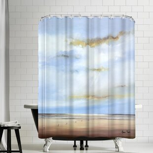 Hans Paus Jacobs Ladder Above the Sea Single Shower Curtain