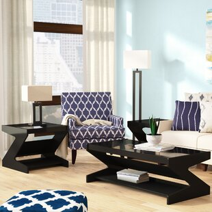 Hagood 3 Piece Coffee Table Set
