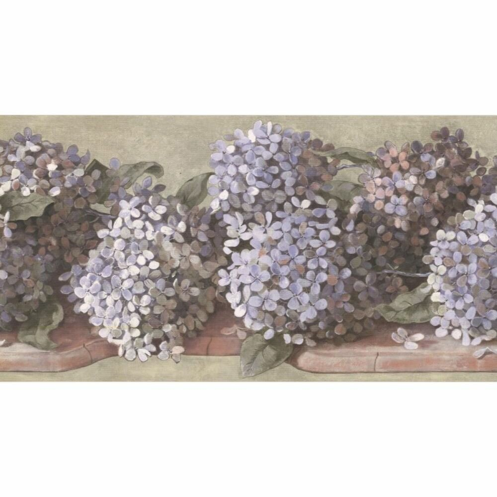 Highland Dunes Hyeon Floral 15 L X 10 25 W Wallpaper Border
