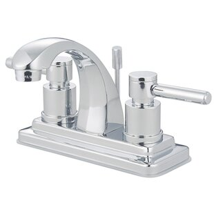 Kingston Brass Concord Centerset Bathroom Faucet with Brass Pop-Up Drain