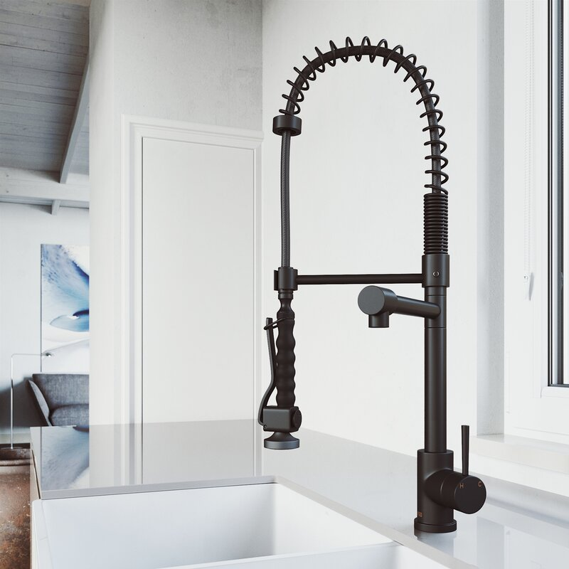 Vigo Zurich Pull Down Single Handle Kitchen Faucet Reviews Wayfair