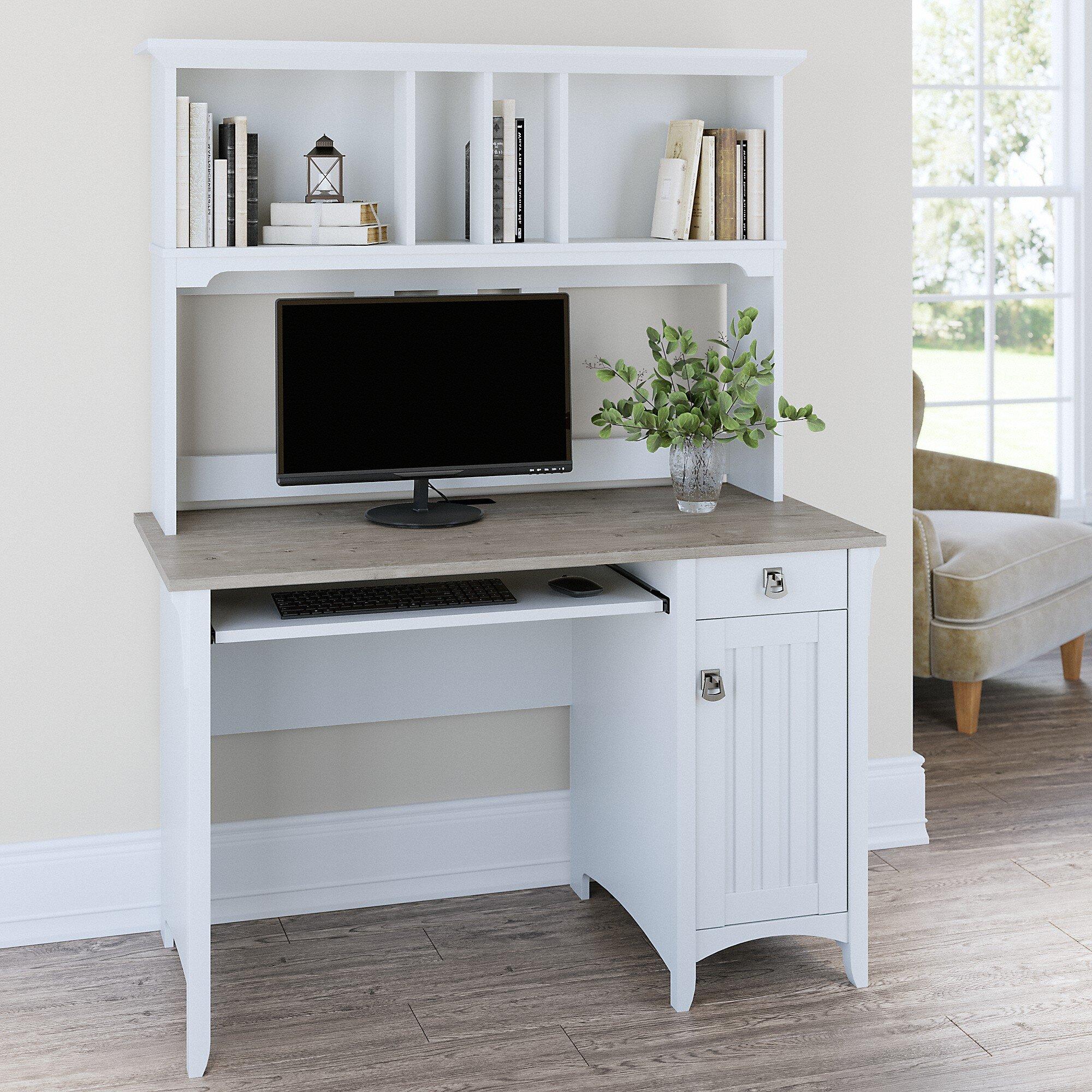 Three Posts Salina Desk With Hutch Reviews Wayfair