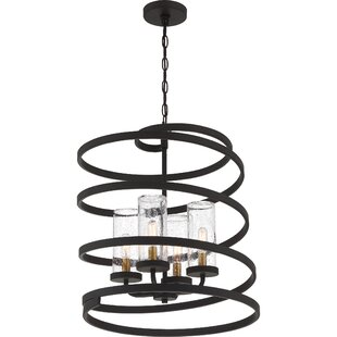 Odis 4-Light Geometric Chandelier by Ivy Bronx