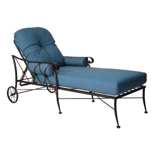 Woodard Derby Chaise Lounge With Cushion
