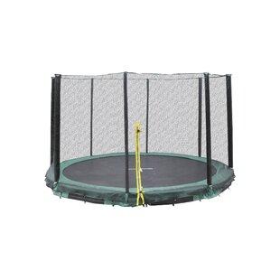 Super Jumper Inground 10' Round Trampoline with Safety Enclosure