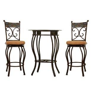 Beau 3 Piece Pub Table Set Boraam Industries Inc