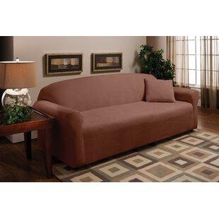 Stretch Microfleece Box Cushion Sofa Slipcover