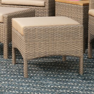 Hooley Ottoman with Cushion by Highland Dunes