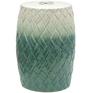 Soper Woven Design Porcelain Garden Stool