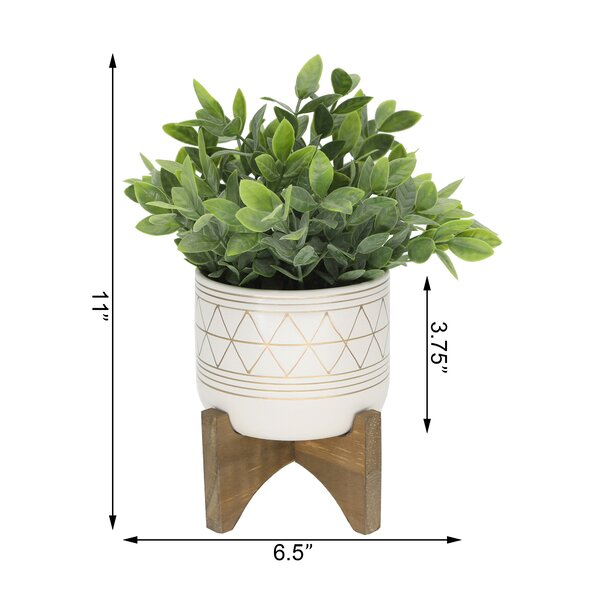 Mistana 4 Artificial Eucalyptus Plant In Planter Reviews Wayfair