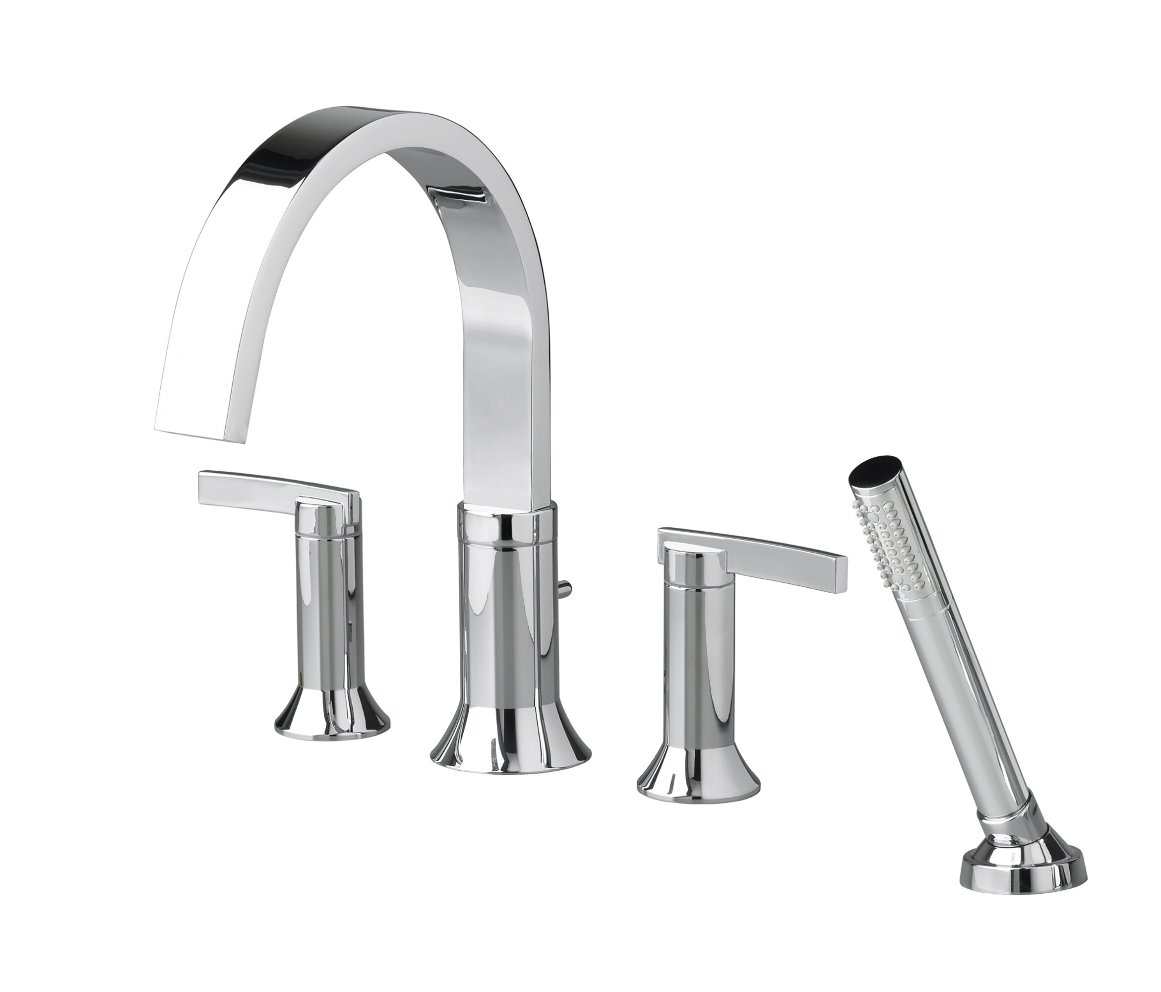 American Standard Berwick Double Handle Deck Mounted Roman Tub Faucet Trim With Diverter And Handshower Wayfair
