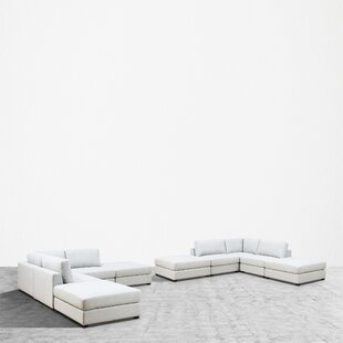Nasir Reversible Modular Sectional with Ottoman