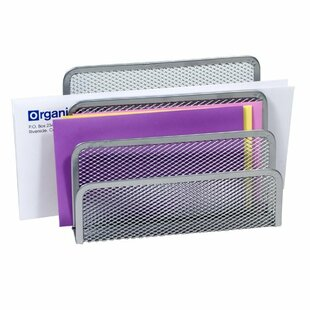 YBM Home 3 Slot Mesh Letters and Documents File Organizer