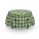 Traditional Argyle Ottoman Slipcover (Set of 2) by East Urban Home