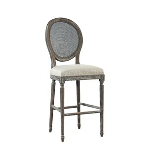 Spenzia Bar Stool with Rattan Back by Fur..