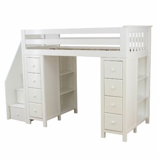 Ayres Twin Loft Bed with Staircase by