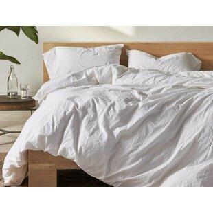 Coyuchi Organic Crinkled Percale 100% Cotton Sheet Set