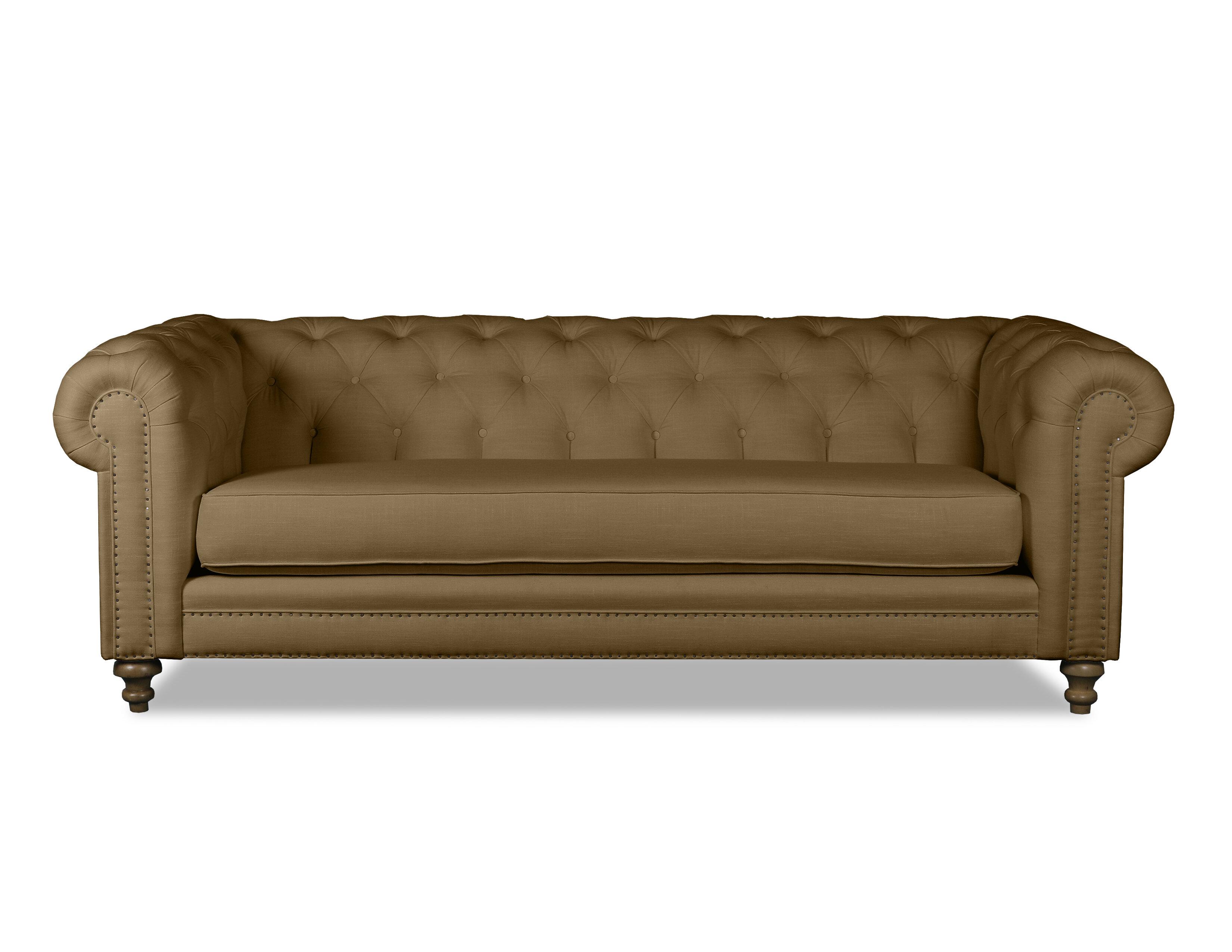 Benites Tufted Linen Chesterfield Sofa