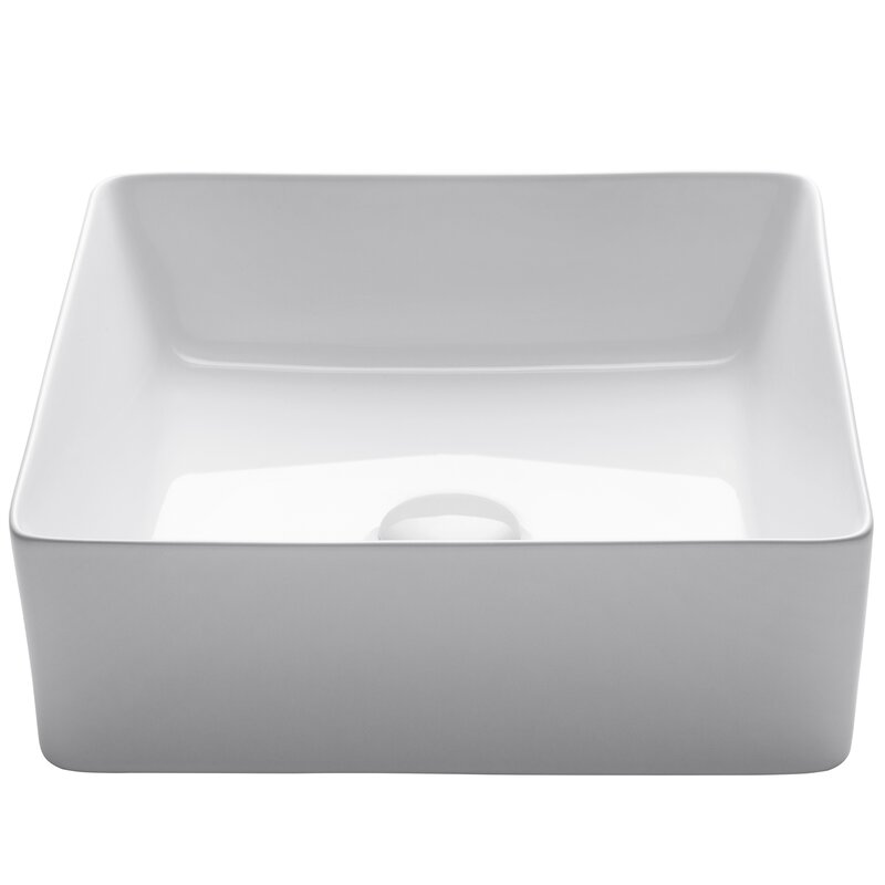 Viva Vitreous China Square Vessel Bathroom Sink
