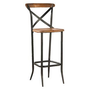 Metal Cross Patio Bar Stool (Set of 2)