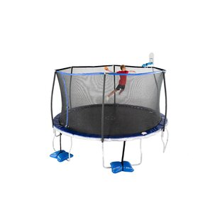 14' Round Trampoline With Safety Enclosure By TruJump