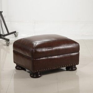 Ranold Leather Ottoman by ..