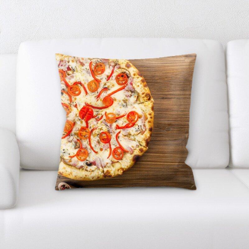East Urban Home Pizza Throw Pillow Wayfair