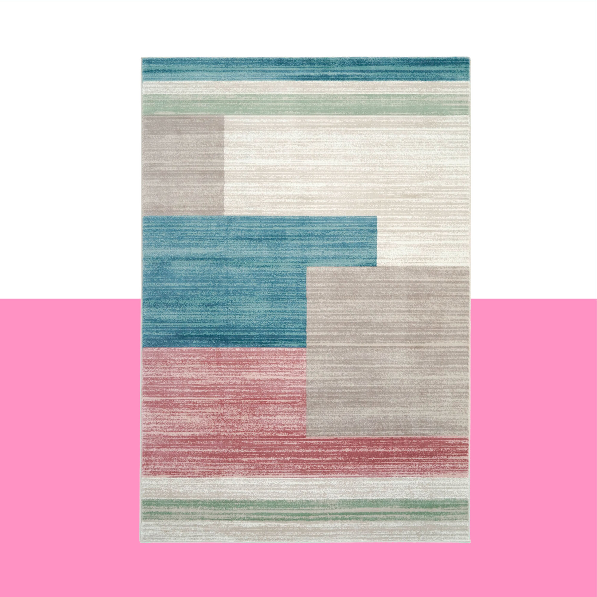 Hashtag Home Evalina Abstract Blue Beige Area Rug Wayfair