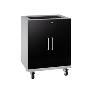 Performance Plus 2.0 Diamond Plate Series 37.25 H x 28 W x 22 D Storage Cabinet by NewAge Products