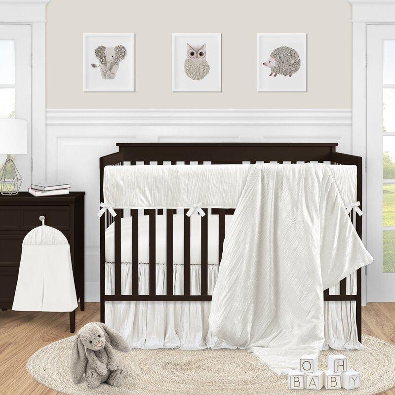 Sweet Jojo Designs Crinkle Crushed Velvet 5 Piece Crib Bedding Set Wayfair