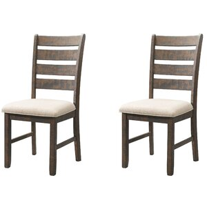 Dearing Ladder Back Side Upholstered Dining Chair (Set of 2) by Laurel Foundry Modern Farmhouse