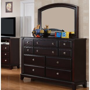 Holzman 10 Drawer Dresser with Mirror