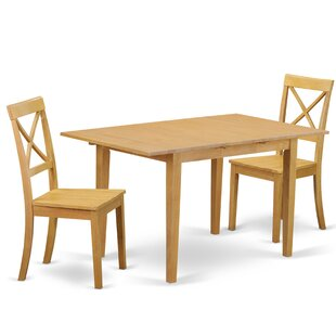 Phoenixville 3 Piece Solid Wood Dining Set by Three Posts