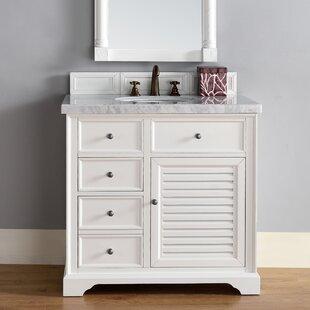 Osmond Traditional 36 Single Cottage White Bathroom Vanity Set by Greyleigh