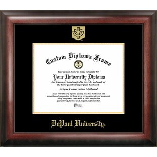 NCAA DePaul Blue Demons Gold Embossed Diploma Frame By Campus Images