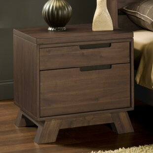 Omalley Wooden 2 Drawer Nightstand by Williston Forge
