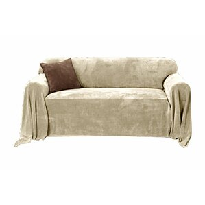 Plush Box Cushion Loveseat Slipcover by Sure Fit
