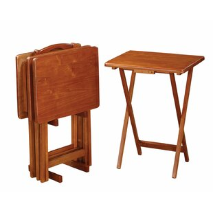 Flannagan Tray Table Set by Red Barrel Studio