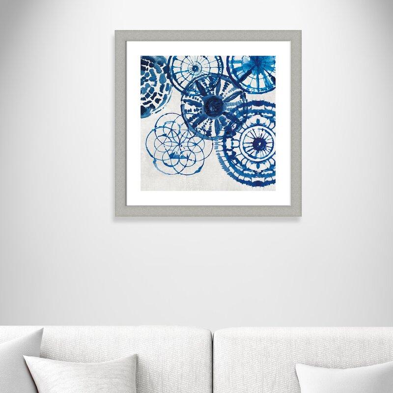 'Shibori Rings II' Framed Acrylic Painting Print