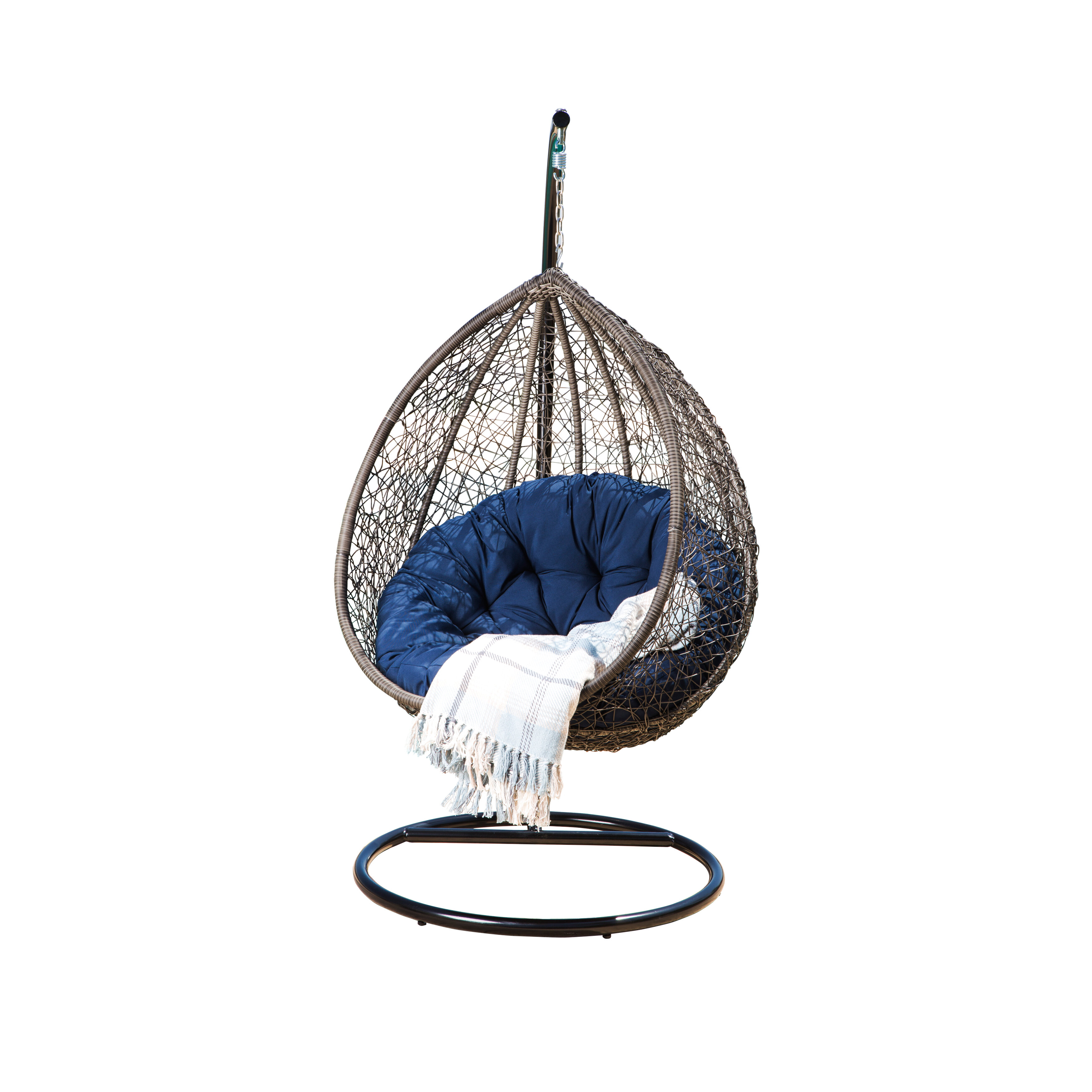 Ostrowski Outdoor Wicker Swing Chair With Stand Joss Main