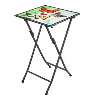 Baroda Butterfly Kaleidoscope Folding Steel Bistro Table