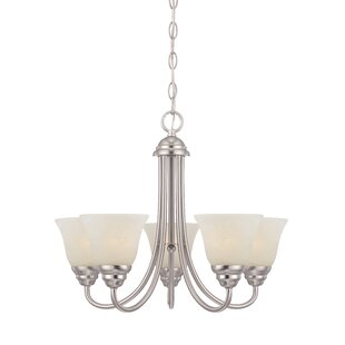 Charlton Home Eichelberger 5-Light Shaded Chandelier