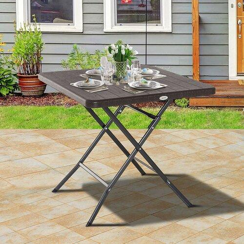 Klappbarer Balkontisch Juliana aus Metall | Garten > Balkon > Balkontische | Glas - Metall - Korbgeflecht - Kunststoff | Garten Living