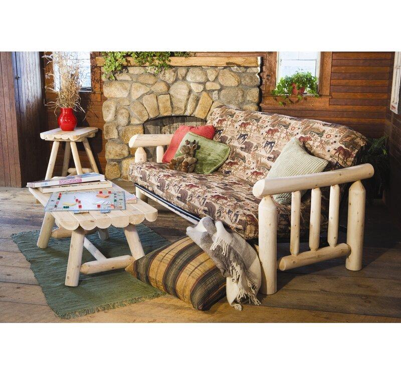 Rustic Cedar Log Futon Frame & Reviews | Wayfair