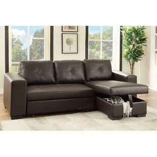 Bobkona Nathan Sleeper Sectional by Poundex Best Choices