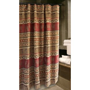 Lamoureux Bear And Moose Cabin Single Shower Curtain